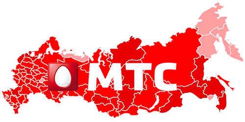 карта России и знак МТС